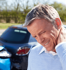 man with whiplash after car accident