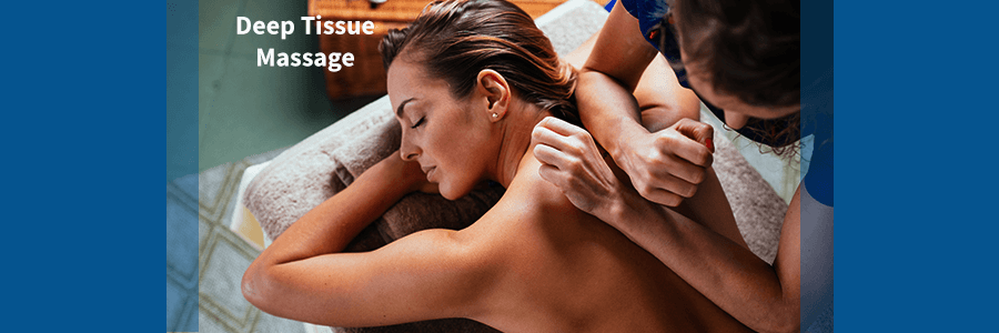 woman receiving deep tissue massage