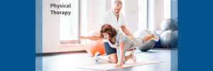 woman in physical therapy for spinal deformity