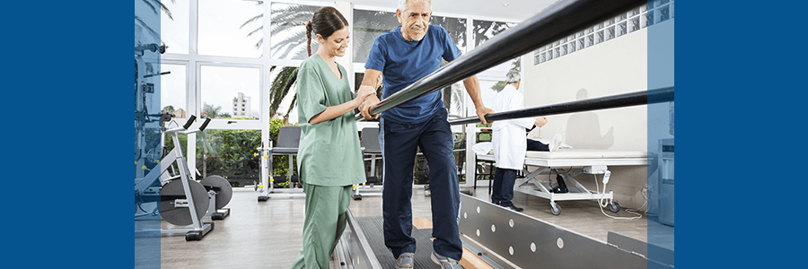 man with spinal stenosis completing physical therapy
