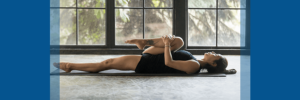 woman with spinal stenosis performing yoga exercises