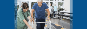 man with spinal cord injury undergoing physical therapy
