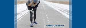 woman with arthritis symptoms from winter weather