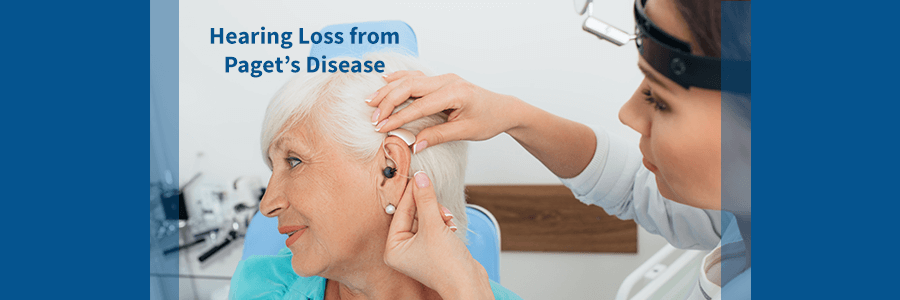 woman with hearing loss from paget's disease