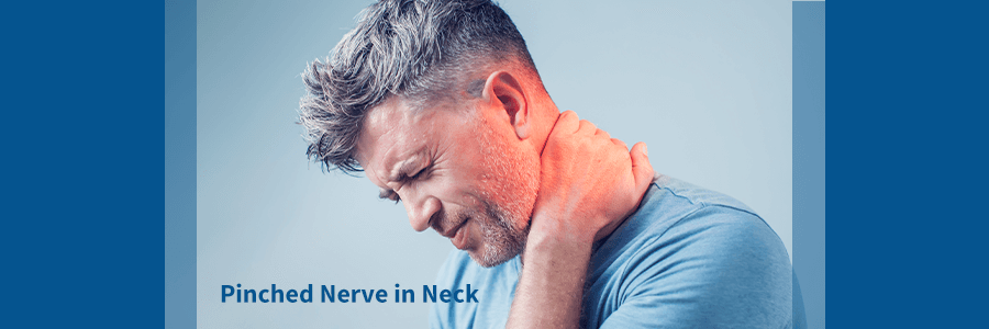 man with pinched nerve in neck