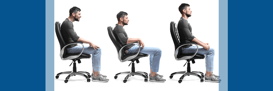 bad and good posture while sitting