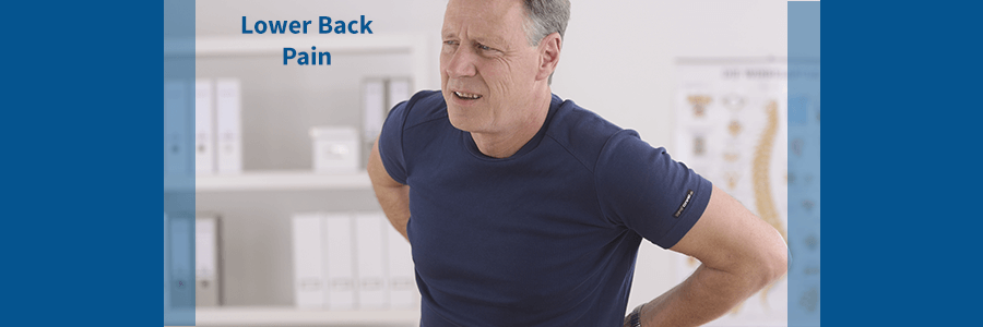 man with lower back pain from lumbar herniated disc