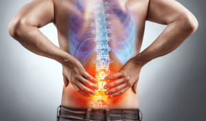 man with adult scoliosis