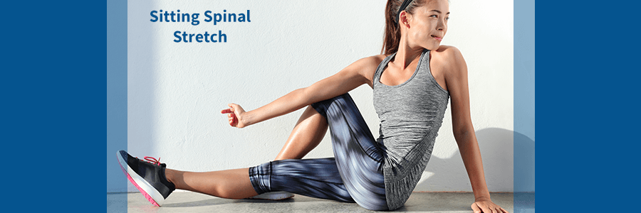 sitting spinal stretch for sciatica relief